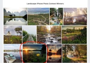 Landscape iPhone Photo Contest Winner